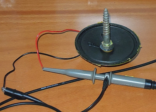 loudspeaker earthquake sensor